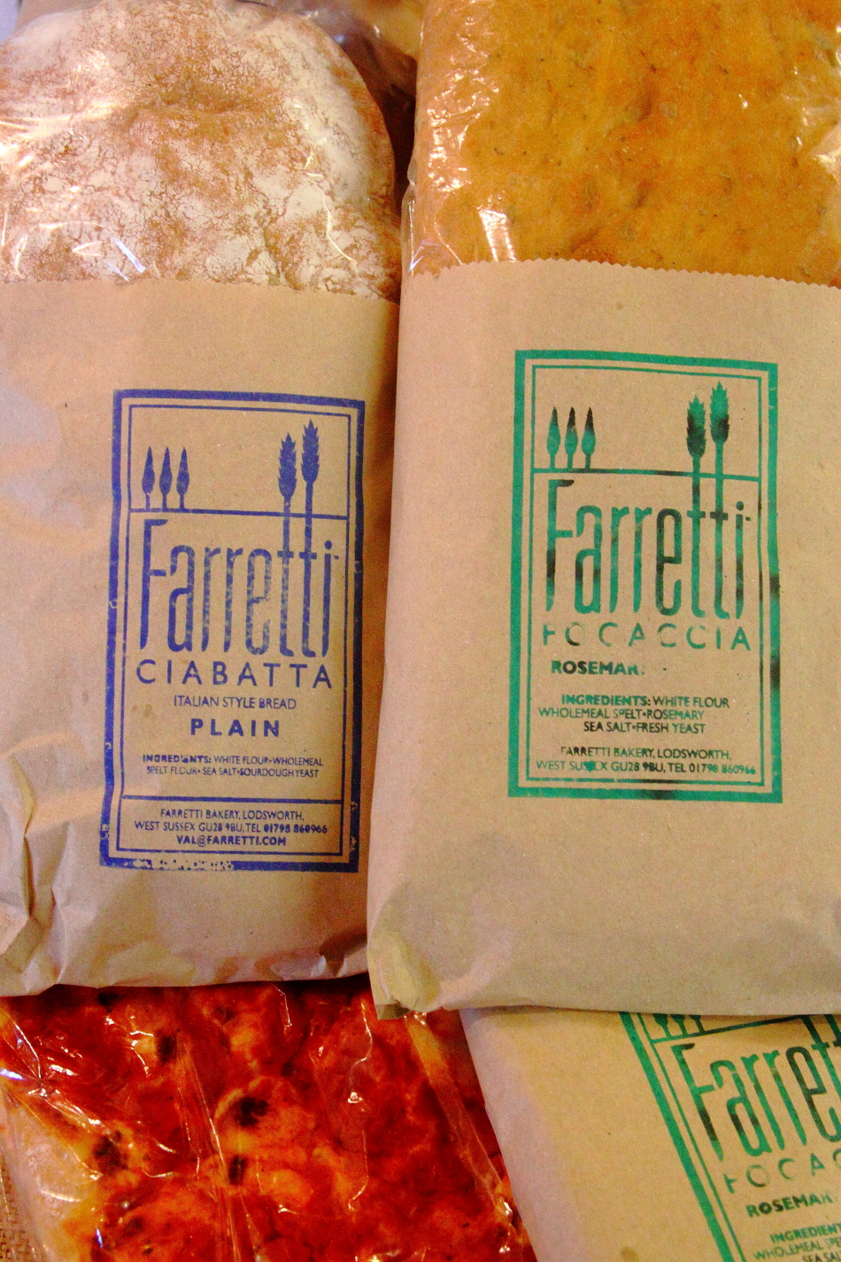 Italian Breads from the Farretti Bakery in Lodsworth, West Sussex