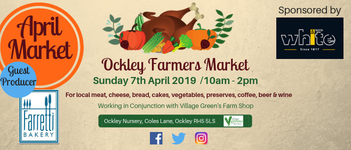 OCKLEY FARMERS MARKET APRIL @ Ockley Farmers Market